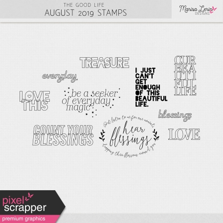 The Good Life: August 2019 Stamps Kit