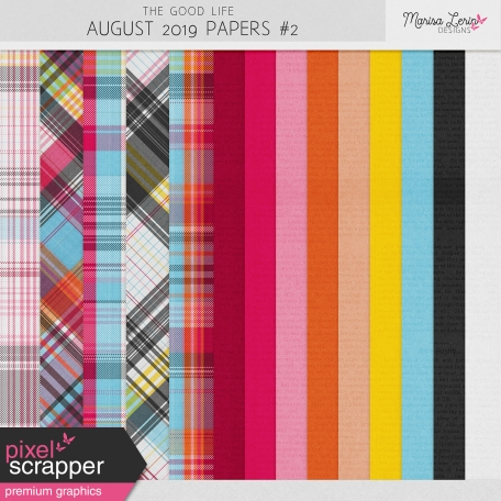 The Good Life: August 2019 Papers Kit #2