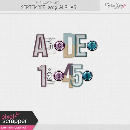 The Good Life: September 2019 Alphas Kit