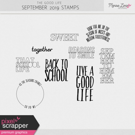 The Good Life: September 2019 Stamps Kit