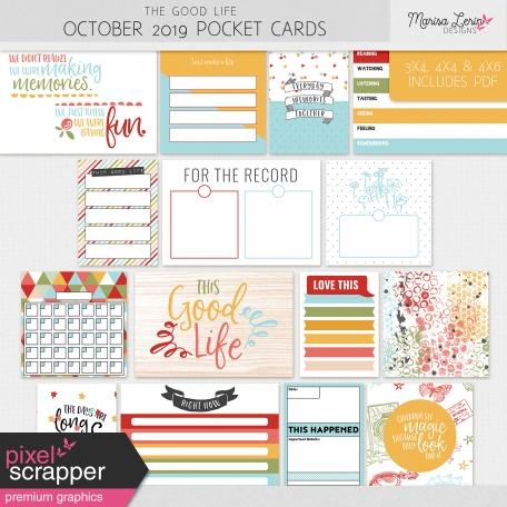 The Good Life: October 2019 Pocket Cards Kit