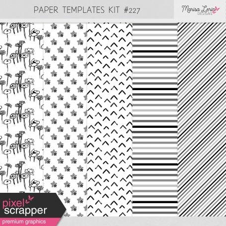 Paper Templates Kit #227