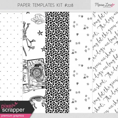 Paper Templates Kit #228