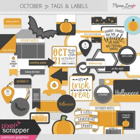 October 31 Words & Labels Kit