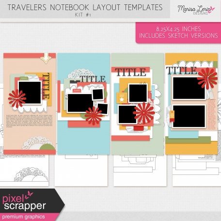 Travelers Notebook Layout Templates Kit #1