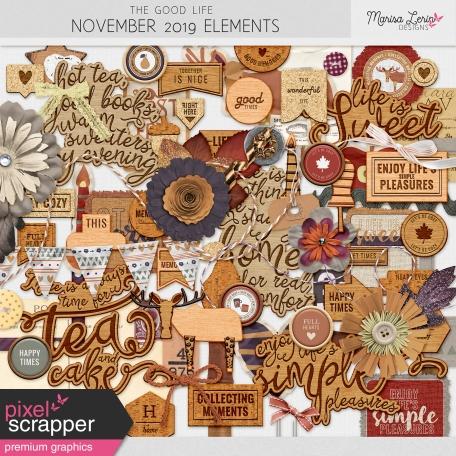 The Good Life: November 2019 Elements Kit