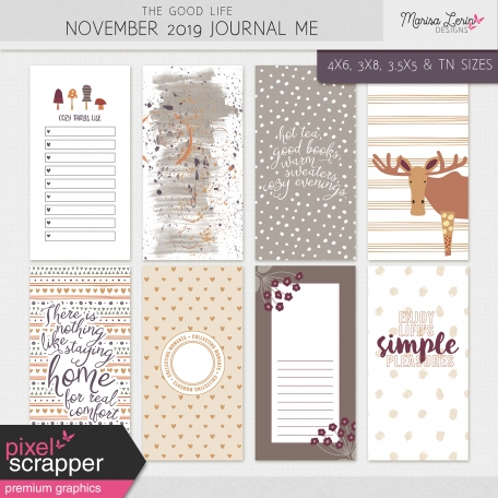 The Good Life: November 2019 Journal Me Kit