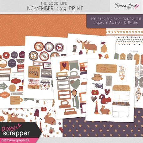 The Good Life: November 2019 Print Kit