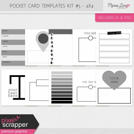 Pocket Card Templates Kit #5 - 4x4