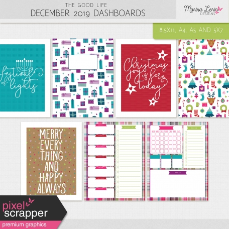 The Good Life: December 2019 Dashboards Kit
