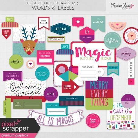 The Good Life: December 2019 Labels & Words Kit