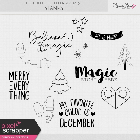 The Good Life: December 2019 Stamps Kit