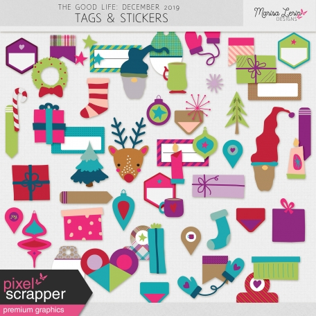 The Good Life: December 2019 Tags & Stickers Kit