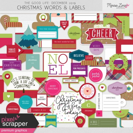 The Good Life: December 2019 Christmas Labels & Words Kit