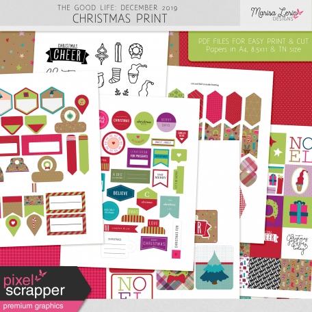 The Good Life: December 2019 Christmas Print Kit