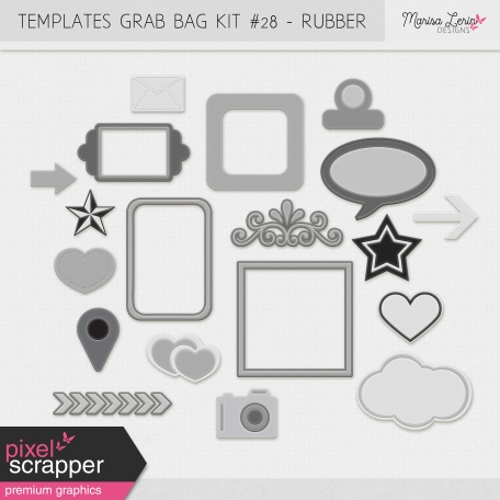 Templates Grab Bag Kit #28 - Rubber