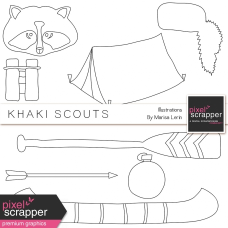 Khaki Scouts Illustrations Kit