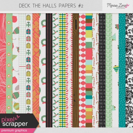 Deck the Halls Papers Kit #2
