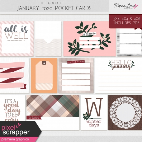 The Good Life: January 2020 Pocket Cards Kit