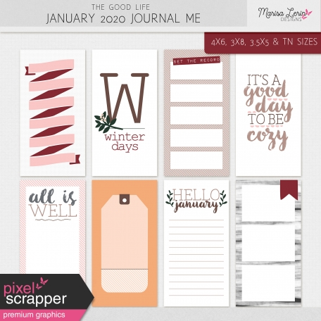 The Good Life: January 2020 Journal Me Kit