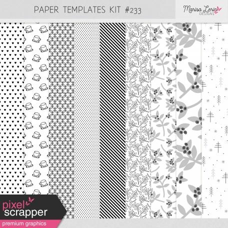 Paper Templates Kit #233