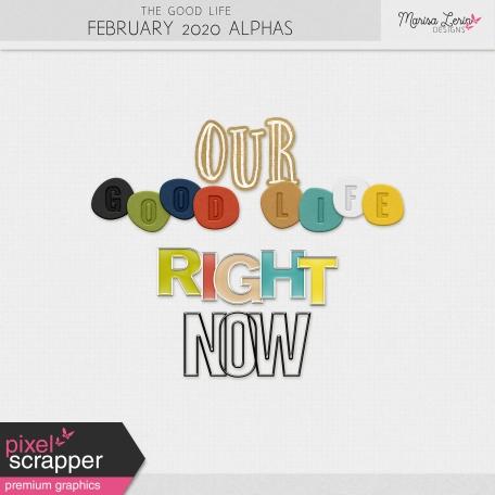 The Good Life: February 2020 Alphas Kit