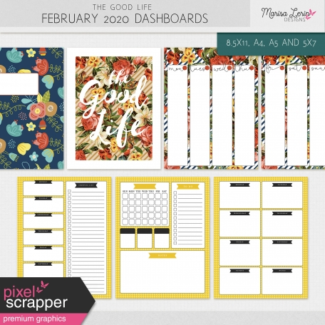 The Good Life: February 2020 Dashboards Kit