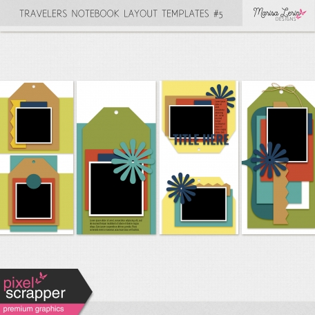 Travelers Notebook Layout Templates Kit #5