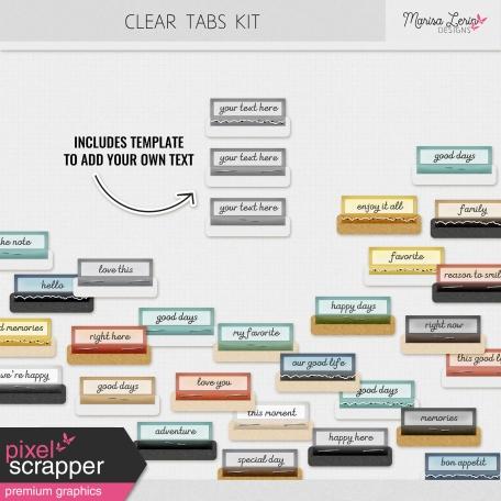 Clear Tabs Kit