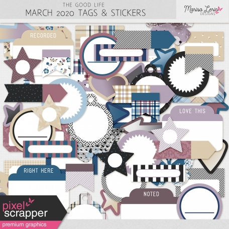 The Good Life: March 2020 Tags & Stickers Kit
