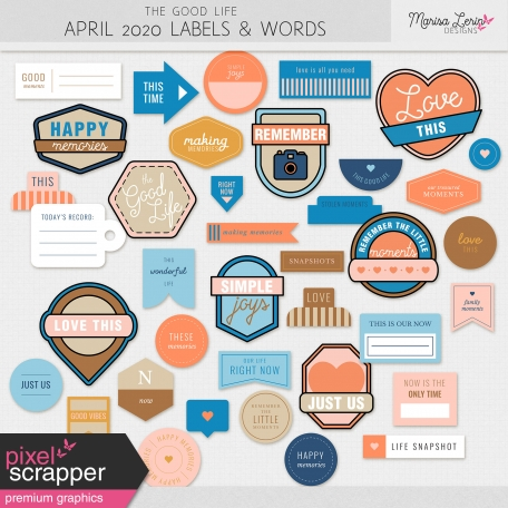 labels and words for hybrid scrapbooking