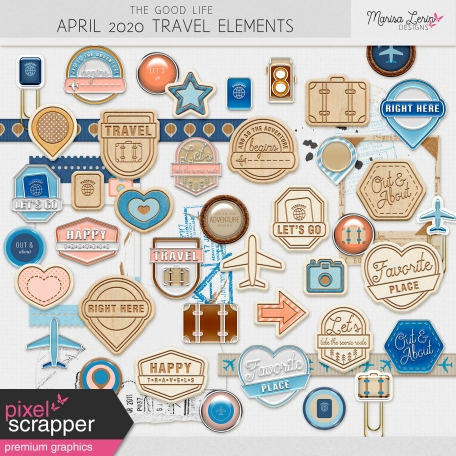 The Good Life: April 2020 Travel Elements Kit