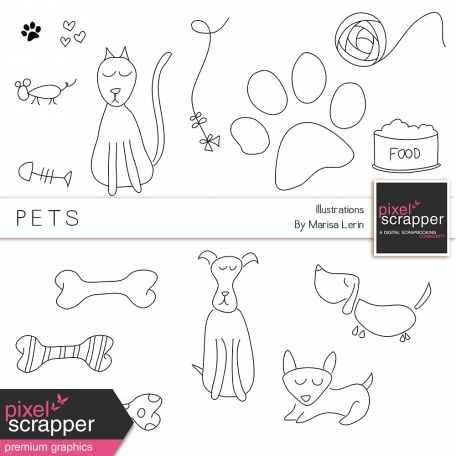 Pets Illustrations Kit