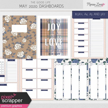 The Good Life: May 2020 Dashboards Kit
