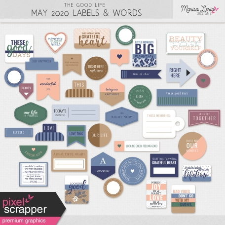 The Good Life: May 2020 Labels & Words Kit