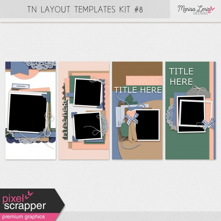 Travelers Notebook Layout Templates Kit #8