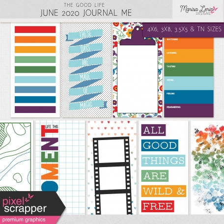 bright journal cards for hybrid scrapbooking
