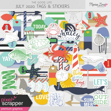 The Good Life: July 2020 Tags & Stickers Kit