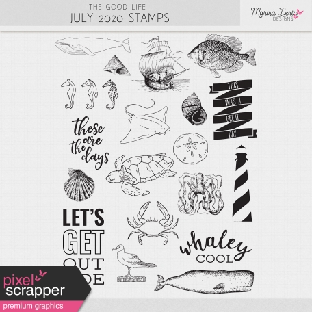 The Good Life: July 2020 Stamps Kit