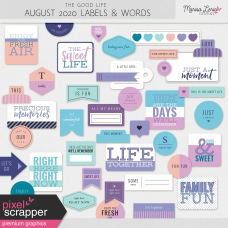 The Good Life: August 2020 Labels & Words Kit