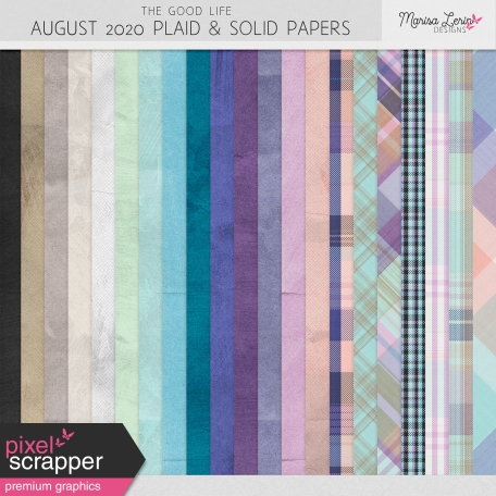 The Good Life: August 2020 Solids & Plaids Kit