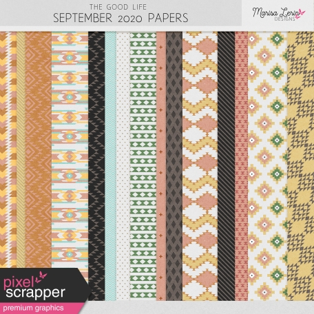 The Good Life: September 2020 Papers Kit