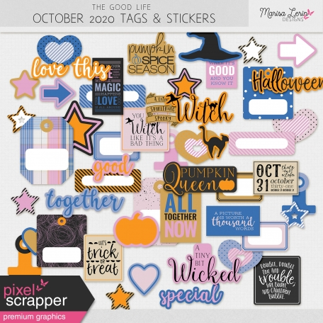 The Good Life: October 2020 Stickers & Tags Kit