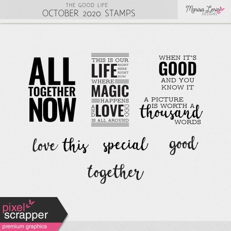 The Good Life: October 2020 Stamps Kit