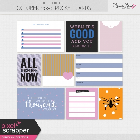 The Good Life: October 2020 Pocket Cards Kit