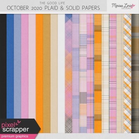 The Good Life: October 2020 Plaids & Solids Kit