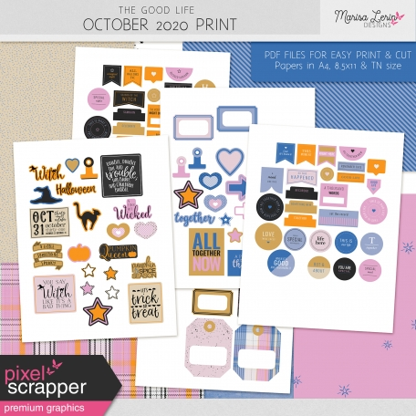The Good Life: October 2020 Print Kit