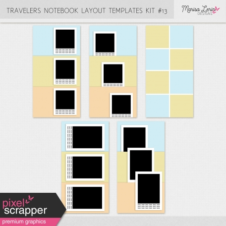 Travelers Notebook Layout Templates Kit #13
