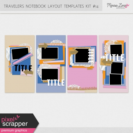 Travelers Notebook Layout Templates Kit #14