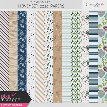 The Good Life: November 2020 Papers Kit